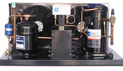 艾默生制冷机组宽广的运行工况范围,带油面测试阀,所有型号均有曲轴箱